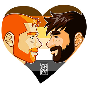Bobo Bear - Adam and Ben profiles - bear pride heart