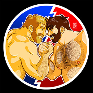 Bobo Bear - Adam and Mike like arm wrestling