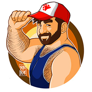 Bobo Bear - Adam likes baseball caps - bear pride