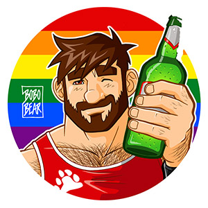 Bobo Bear - Adam likes beer - gay pride