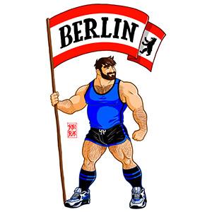 Bobo Bear - Adam likes Berlin flag - blue outfit