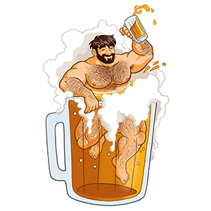 Bobo Bear: Adam likes big beer