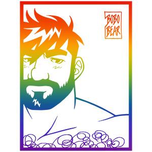 Bobo Bear: Adam likes frames - gay pride