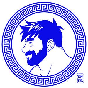 Bobo Bear - Adam likes Greece - blue