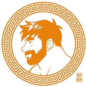 Bobo Bear - Adam likes Greece - orange