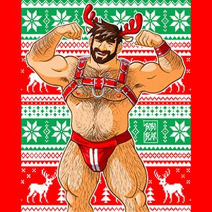 Bobo Bear - Adam likes harness - Xmas