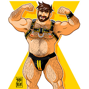 Bobo Bear - Adam likes harness - yellow X