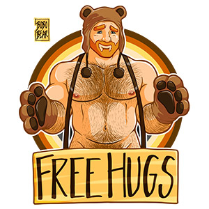 Bobo Bear - Adam likes hugs - bear pride ginger