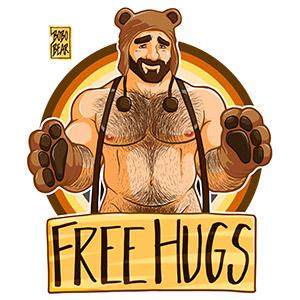 Bobo Bear: Adam likes hugs - bear pride