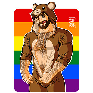 Bobo Bear: Adam likes teddy bears - gay pride