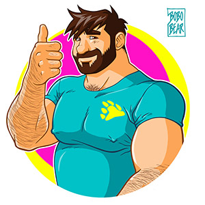 Bobo Bear - Adam likes to bear up - 80s vibe