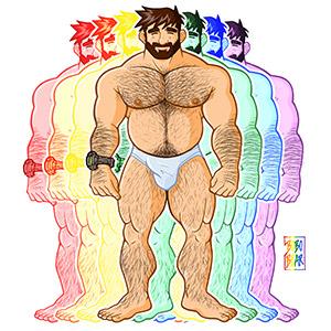 Bobo Bear - Adam likes underwear - gay pride