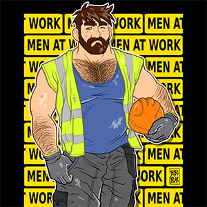 Bobo Bear - Adam likes work - men at work