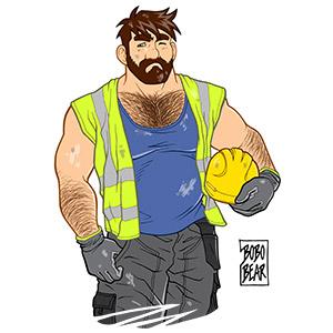 Bobo Bear: Adam likes work - no background