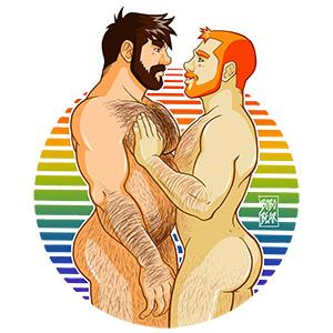 Bobo Bear - Adam loves Ben - gay pride