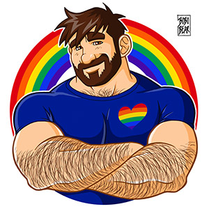 Bobo Bear: Adam likes crossing arms - Gay pride