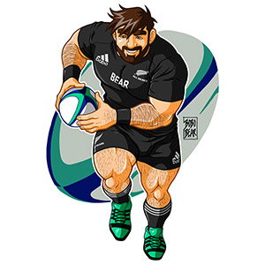 Bobo Bear: Adam likes to play rugby - New Zealand