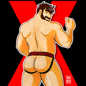 Bobo Bear: Adam Likes Jockstraps - Red