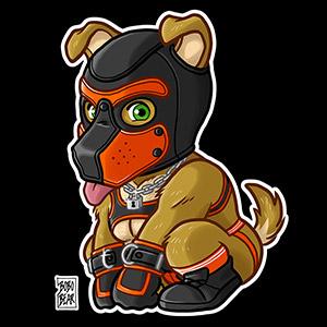 Bobo Bear - PLAYFUL PUPPY - ORANGE MASK