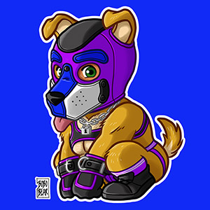 Bobo Bear: PLAYFUL PUPPY - PURPLE MASK