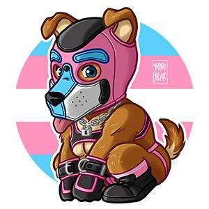 Bobo Bear - PLAYFUL PUPPY - TRANSGENDER FLAG