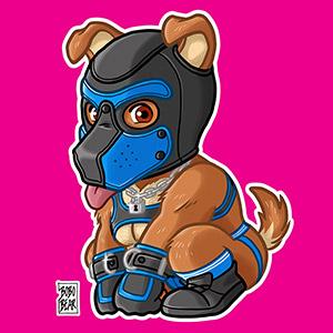 Bobo Bear: PLAYFUL PUPPY - BLUE MASK