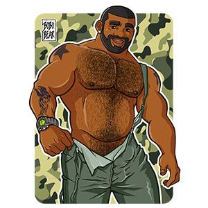 Bobo Bear: Chuck likes Dungarees - Camouflage