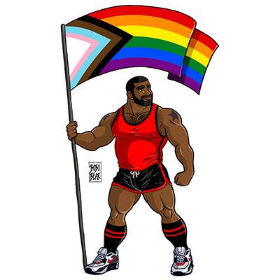 Bobo Bear: Chuck likes Pride Flag